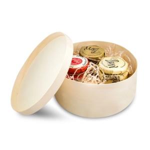 подарочный набор мед и варенье 2 баночки меда и варенья на выбор 90мл с вашим лого с травами для чая