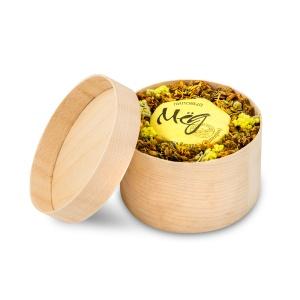 подарочный набор мед и варенье 1 баночки меда и варенья на выбор 90мл с вашим лого с травами для чая