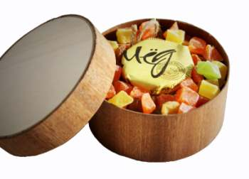 Подарочный набор мед и варенье 1 баночка меда и варенья на выбор 200мл с вашим лого с травами для чая