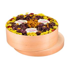 подарочный набор мед и варенье 3 баночки меда и варенья на выбор с вашим лого с травами для чая